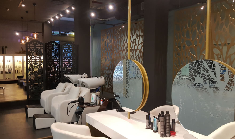 Hair Station and Pedicure Area