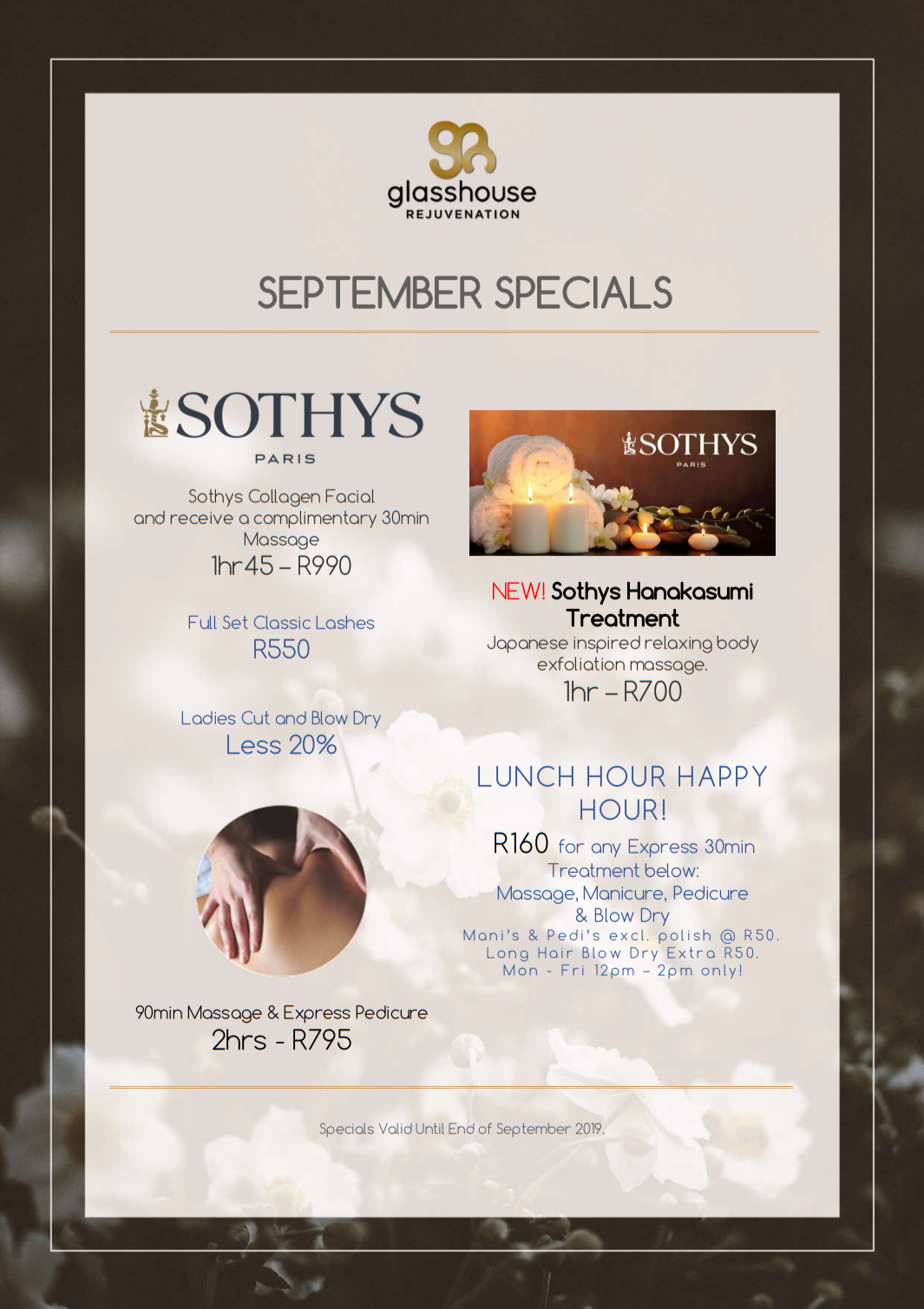 Glasshouse September Specials