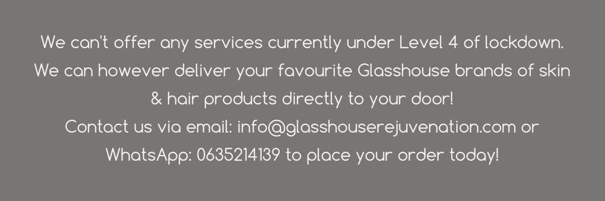 Glasshouse COVID Message
